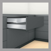 Inner Drawer M Height in Stainless Steel
