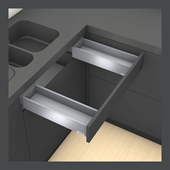 Sink Drawer M Height in Orion Grey
