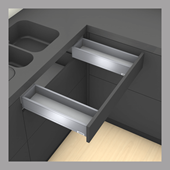 Sink Drawer M Height in Stainless Steel