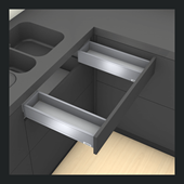 Sink Drawer M Height in Terra Black
