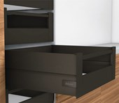 D Height (211mm) BOXCAP Terra Black - TIP ON BLUMOTION