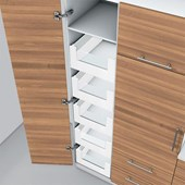 Space Tower Inner Drawers D Height (211mm) Silk White