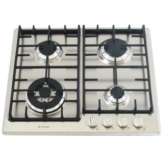 Stainless Steel Gas Cooktop + Cast Iron Trivets - 580mm