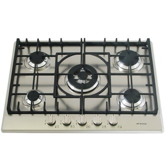 Stainless Steel Gas Cooktop + Cast Iron Trivets - 680mm