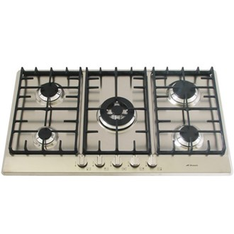 Stainless Steel Gas Cooktop + Cast Iron Trivets - 860mm