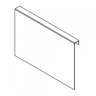 AMBIA-LINE chipboard back adapter for LEGRABOX high fronted pull-out