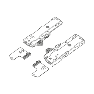 TIP-ON BLUMOTION set (Unit + latch + Adapter) for LEGRABOX/MOVENTO