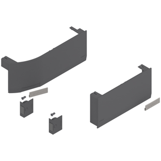 AVENTOS HK top stay lift, cover cap set (incl. Trigger switch for drilling, enclosed), left, right+left, for SERVO-DRIVE - Dark Grey
