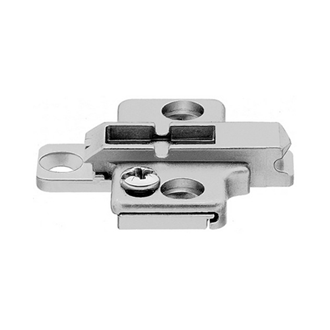 CLIP mounting plate cruciform zinc screw-on HA: two-part