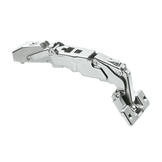 CLIP top Wide angle hinge for zero protrusion 155 Degree overlay application unsprung