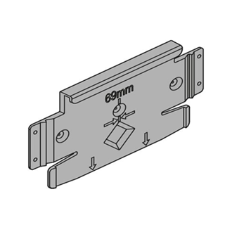 SERVO-DRIVE flex mounting plate for refrigerators freezers and dishwashers