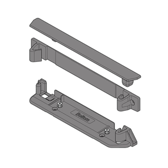 SERVO-DRIVE bracket profile adapter vertical lower/back + cover cap