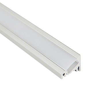 LED Al Pro Corner 30° or 60° Silver with Frosted Cover