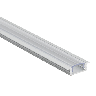 LED Al Pro Shallow Recessed Silver with Clear Cover