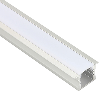 LED Al Pro Deep Recessed Silver Frosted Cover