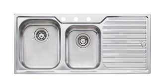 Oliveri Diaz 1 & 3/4 Bowl Topmount Sink With Drainer