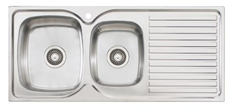 Oliveri Endeavour 1 & 3/4 1080mm Bowl Topmount Sink With Drainer