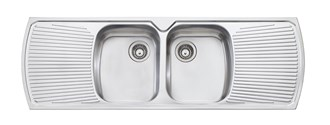 Oliveri Monet Double Bowl Topmount Sink With Double Drainer