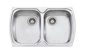 Oliveri Monet Double Bowl Topmount Sink