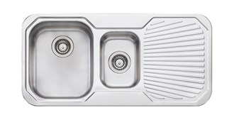 Oliveri Petite 1 & 1/2 Bowl Topmount Sink With Drainer