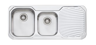 Oliveri Petite 1 & 3/4 Bowl Topmount Sink With Drainer