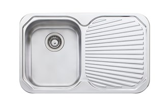 Oliveri Petite Single Bowl Topmount Sink With Drainer