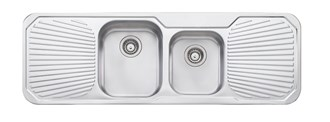 Oliveri Petite 1 & 3/4 Bowl Topmount Sink With Double Drainer