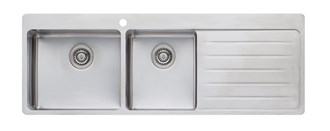 Oliveri Sonetto 1 & 3/4 Bowl Topmount Sink With Drainer