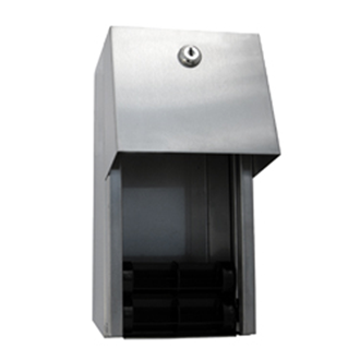 Surface Mounted Double Roll Toilet Paper Dispenser