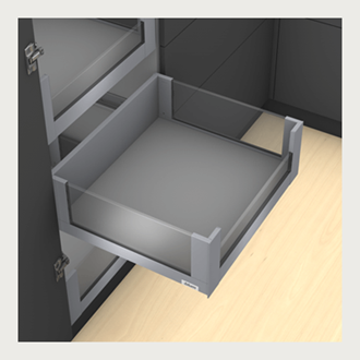 Blum LEGRABOX free Inner Drawer C Height GALLERY RAIL 177MM drawer 450MM TIP-ON BLUMOTION in Orion Grey 70KG for drawer weight of 35-70kg