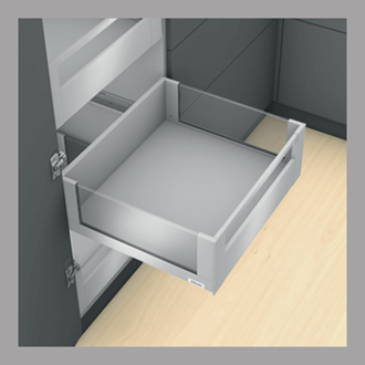 Blum LEGRABOX free Inner Drawer C Height GALLERY RAIL 177MM drawer 500MM Integrated BLUMOTION in Stainless Steel 70KG