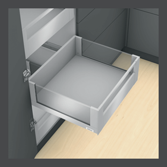 Blum LEGRABOX free Inner Drawer C Height GALLERY RAIL 177MM drawer 500MM TIP-ON BLUMOTION in Orion Grey 70KG for drawer weight of 35-70kg