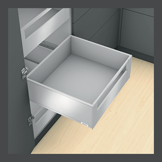 Blum LEGRABOX pure Inner Drawer C Height GALLERY RAIL 177MM drawer 400MM Integrated BLUMOTION in Orion Grey 40KG