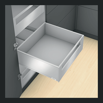 Blum LEGRABOX pure Inner Drawer C Height GALLERY RAIL 177MM drawer 500MM Integrated BLUMOTION in Terra Black 40KG