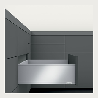 Blum LEGRABOX pure High Fronted C Height 177MM drawer 400MM TIP-ON BLUMOTION in Silk White 40KG for drawer weight 15-40kg