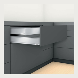 Blum LEGRABOX pure Inner Drawer M Height 90.5MM drawer 350MM TIP-ON BLUMOTION in Silk White 40KG for drawer weight 15-40kg