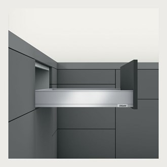 Blum LEGRABOX pure N Height (66.5mm) drawer 450mm TIP-ON BLUMOTION in Silk White 40kg with drawer weight between 0 - 20kg