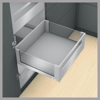 Blum LEGRABOX free Inner Drawer C Height GALLERY RAIL 177MM drawer 550MM Integrated BLUMOTION in Stainless Steel 70KG